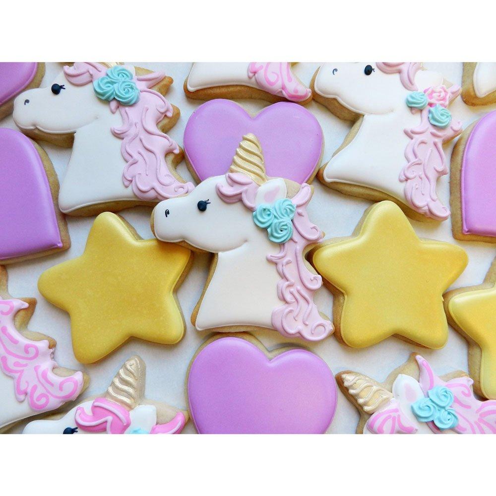 Fairytale Princess Cookie Cutters - 5 Piece Boxed Set - Crown, Dress, Rainbow, Unicorn, Unicorn Head - Ann Clark - US Tin Plated Steel by Ann Clark Cookie Cutters (Image #4)