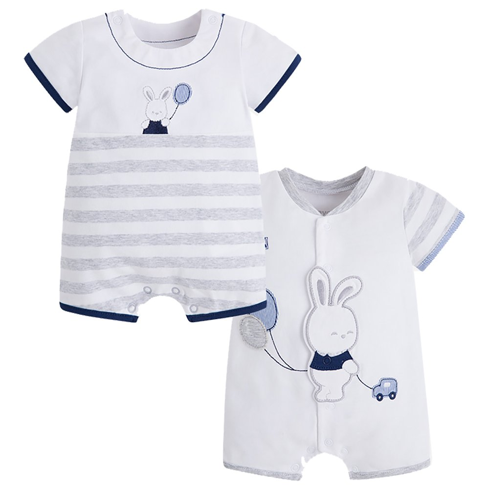 5e27bd02ddc6 Amazon.com  Mayoral Bunny Romper 2 Pack  Clothing