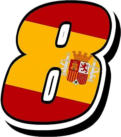 Biomar Labs® Número 8 Bandera Nacional España Spain Calavera ...