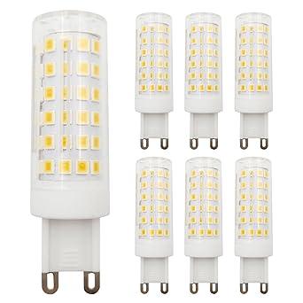 Bombilla LED G9 regulable, 9 W, equivalente a 80 W, luz blanca cálida