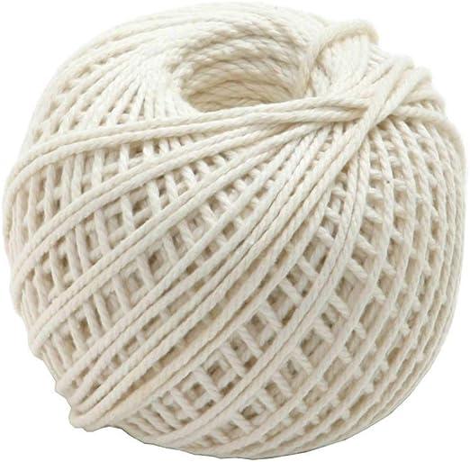 TUUROPD - Cuerda de algodón Natural, Apta para Alimentos, sin ...