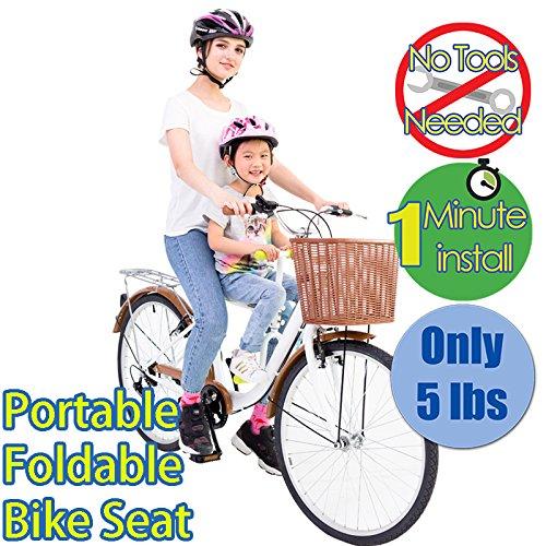PaPaSeat Portable Light Weight Fast Install Child Bike Seat, Works with All City Bikes (USA, Canada, Paris, Milan, Warsaw, Tokyo, Taipei…) by PaPaSeat (Image #2)