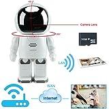WISEUP ロボット型 ビデオカメラ べビーモニター カメラ 16GBSDカード付き wifiネットワーク 双方向音声 動体検知 動画 撮影対応