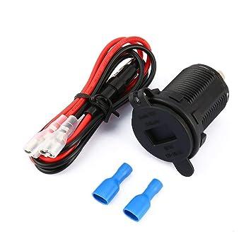 Adaptador de Cargador de Coche Doble USB Redondo Impermeable ...