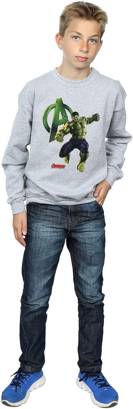Marvel Jungen Hulk Pose Sweatshirt 5-6 Years Sport Grey