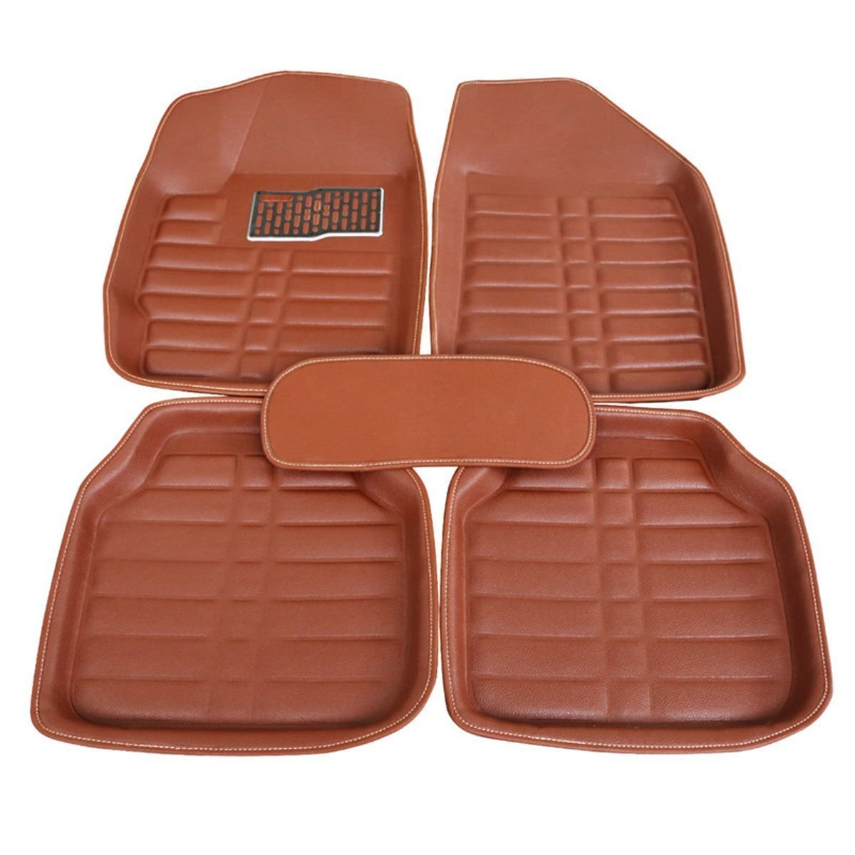 FLY5D® 5Pcs Universal Auto All Weather Car Floor Mats Front & Rear Carpet Waterproof