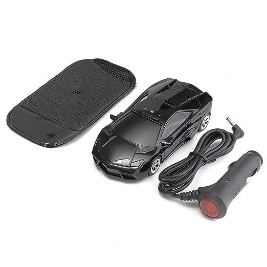 Amazon.com: 360 grados Car Tracker velocidad láser Radar Detector alerta de voz advertencia Radar protección velocidad con Anti Slip PAD Negro: Home & ...