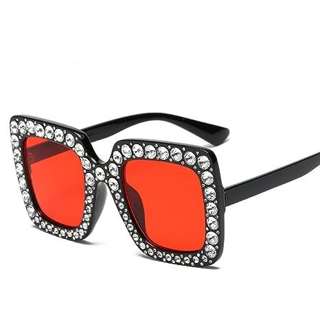 Aoligei Tipo Cuadrado Diamante señora Gafas de Sol ...