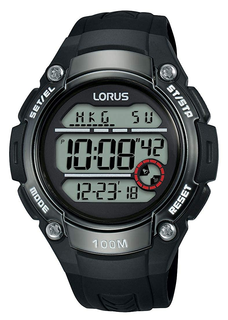 Lorus Reloj Digital para Hombre de Cuarzo con Correa en Silicona R2327MX9