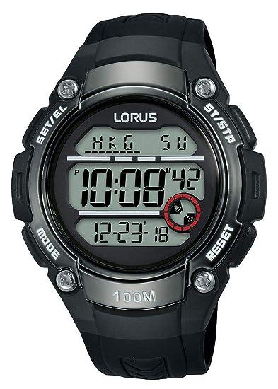 Lorus Reloj Digital para Hombre de Cuarzo con Correa en Silicona R2327MX9: Amazon.es: Relojes