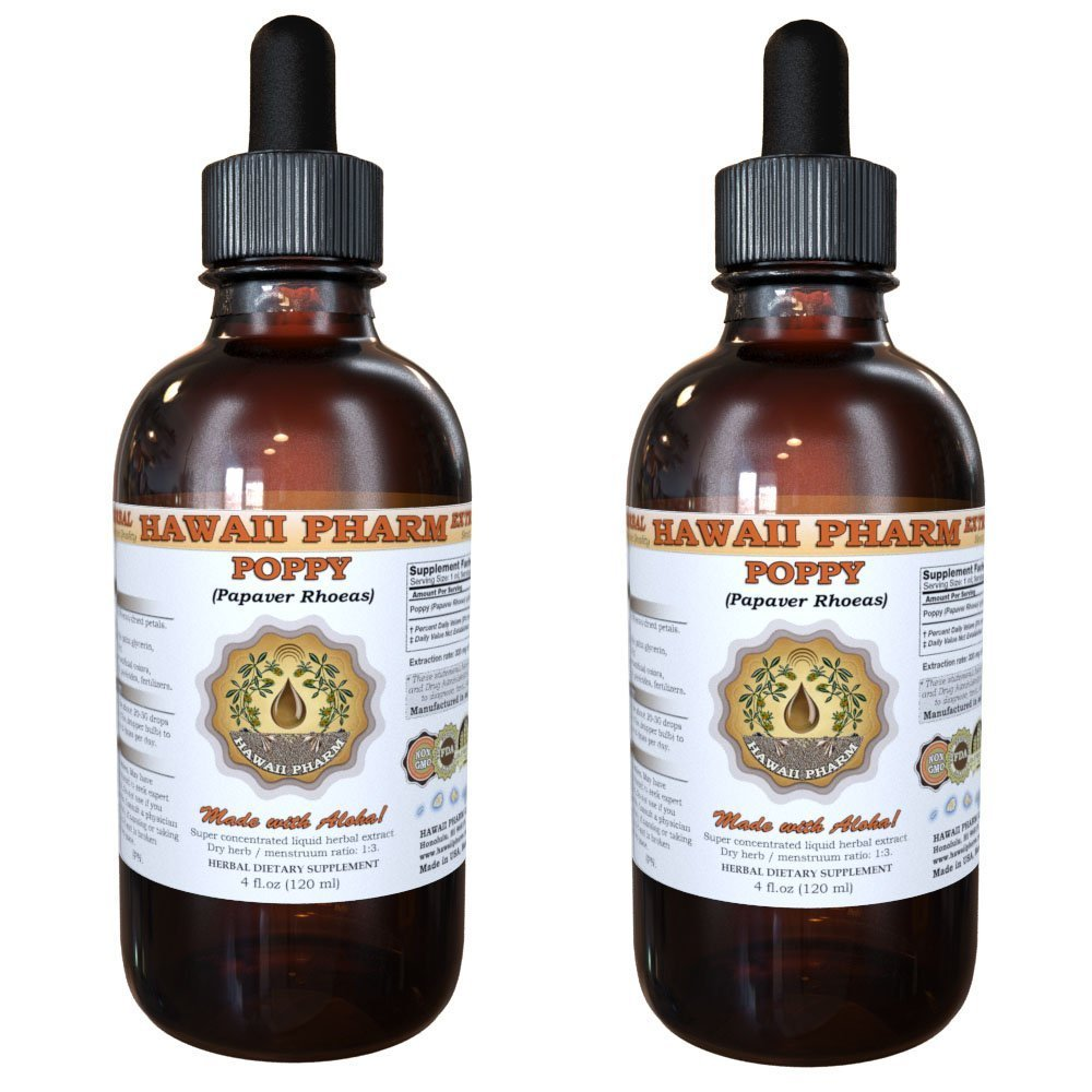 Poppy Liquid Extract, Poppy (Papaver Rhoeas) Tincture 2x2 oz