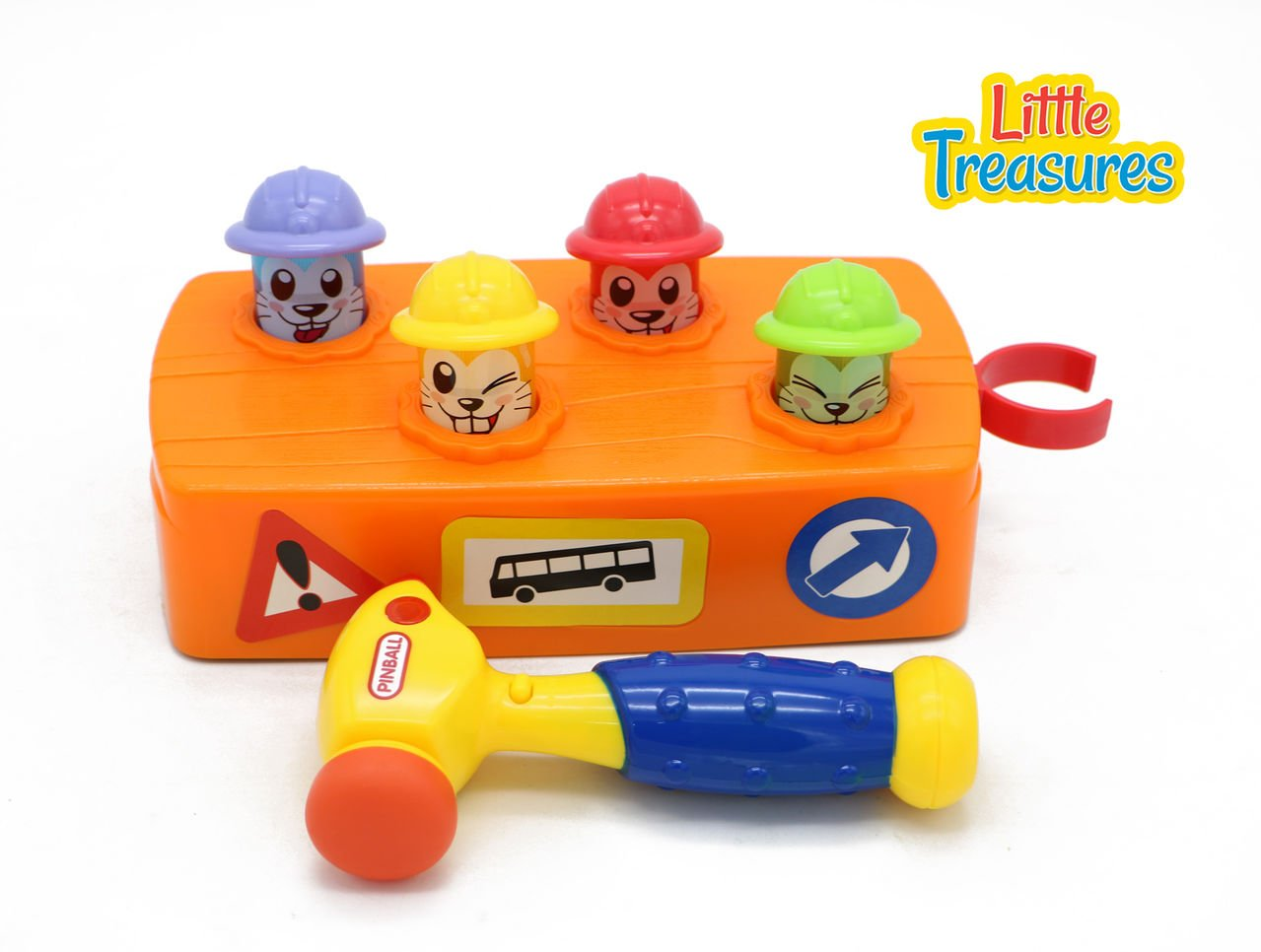 Little Treasures Whack A Mole Construction Hammer Time Play Set from with Smack Down Mole Station and Play Toy Hammer