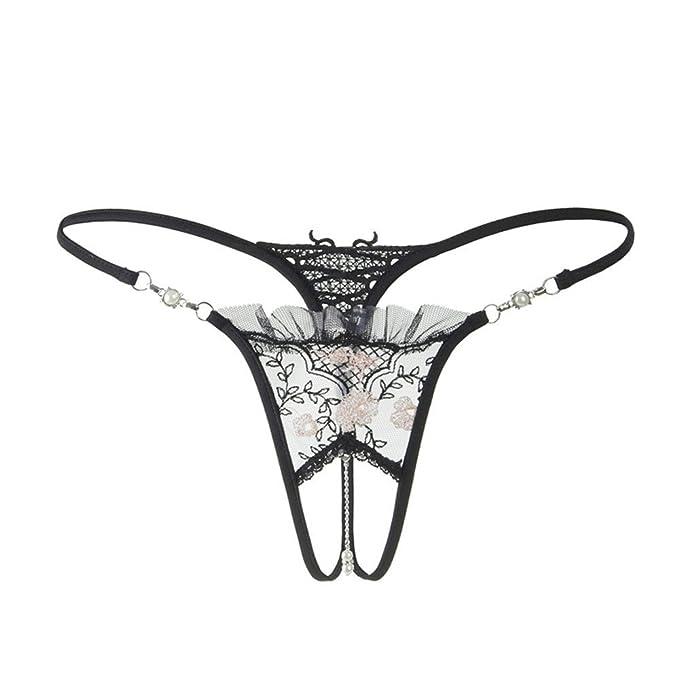 Shirloy Lencería Sexy Transparente Correa de Encaje sin Costura Flaca Ropa Interior Femenina Bikini: Amazon.es: Ropa y accesorios