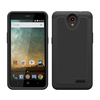 Amazon com: ZTE Maven 2 Z831 Case, Hybrid Rubber Hard