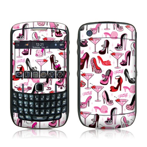 Burly Q Shoes Design Skin Decal Sticker for Blackberry Curve 8500 8520 8530 Cell Phone