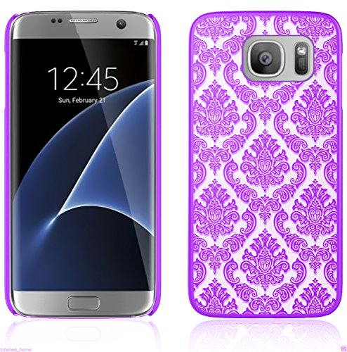 iProtect Samsung Galaxy S7 Edge Hard Case - transparent edles orientalisches Design in Lila