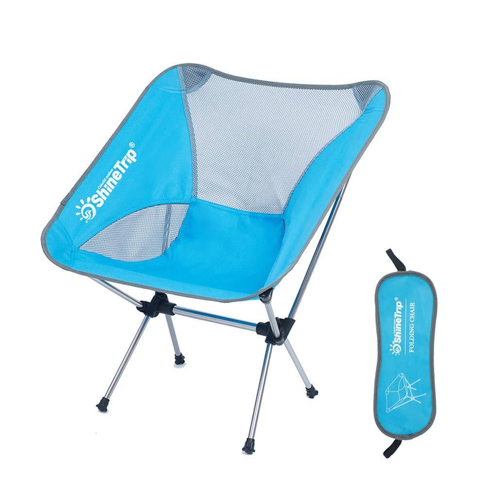 Garyxiyi Klappbarer Campingstuhl Beweglicher kampierender Stuhl mit justierbarer Höhe, faltende wandernde Stühle, die Stuhl mit Tragetasche für Wanderer, Lager, Strand, fischen fischen Stuhl Tragen
