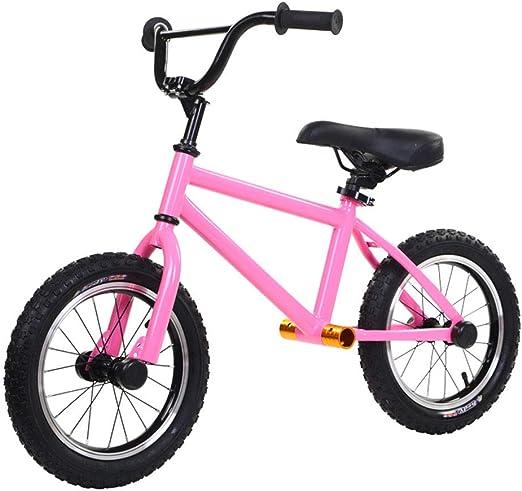 Y-Bikeee Bicicleta De Equilibrio De Aluminio De 14 Pulgadas para Niños Y Niños Pequeños. Bicicleta De Entrenamiento Deportivo Sin Pedales para Niños De Edades 3,4,5,6,7,8,Pink: Amazon.es: Hogar
