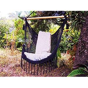 Handmade Black Cotton Hammock Swing Chair