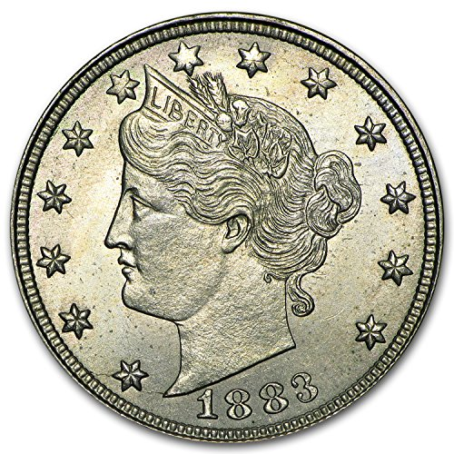 1883 Liberty Head V Nickel No Cents BU Nickel Brilliant Uncirculated