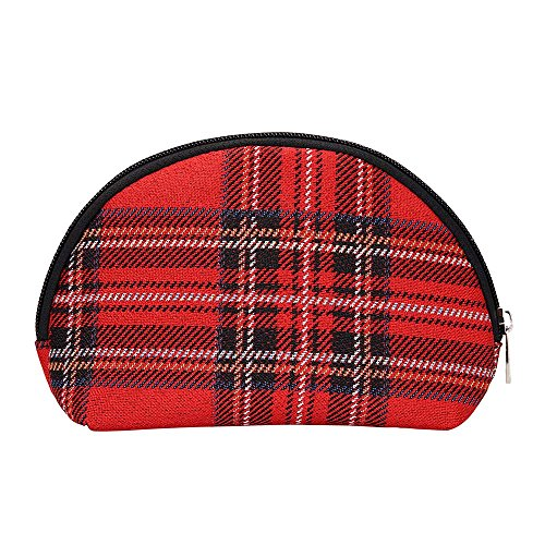 Red Royal Stewart Tartan Cosmetic Bag by Signare/Makeup Ladies Scotland Beauty Toiletry Travel Case/COSM-RSTT ()