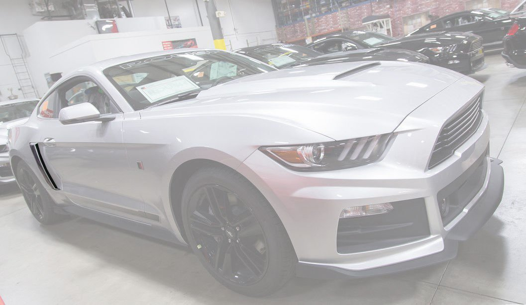 2015-2019 Mustang Roush Painted Quarter Panel Side Scoops Ingot Silver UX