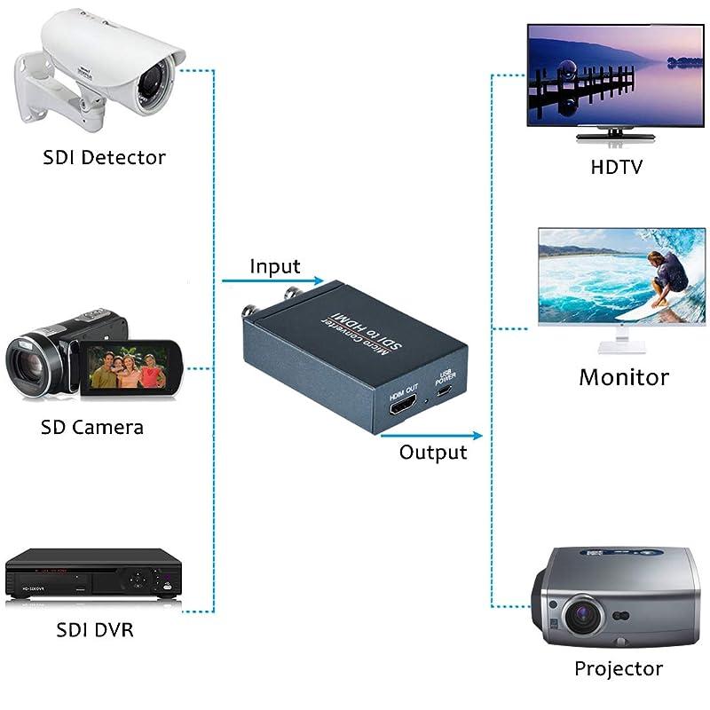 AV//CVBS to Dual SDI Audio Video Converter Support SD HD 3G SDI for PC Laptops Projectors HDTV Computers 1080P VGA