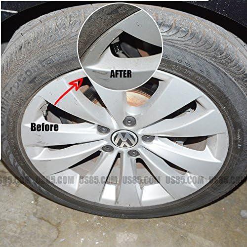 US85 Alfa Romeo Black Chrome Auto Car Wheel Tire Air Valve Caps Stem Cover