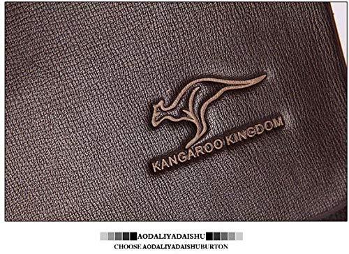 b3bb6b119580d KANGAROO Leather Bag For Men,Brown - Messenger Bags