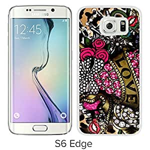 Betsey Johnson(1) White Samsung Galaxy S6 Edge Screen Cover Case Luxurious and Fashion Design