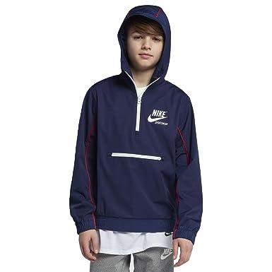 808617b8a16d Amazon.com  Nike Sportswear Big Kids  (Boys ) Jacket (Binary Blue ...