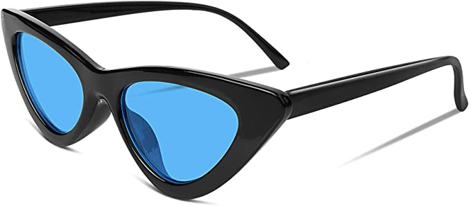 FEISEDY Retro Cat Eye Sunglasses Kurt Cobain Clout Goggles Triangle Frame B2248