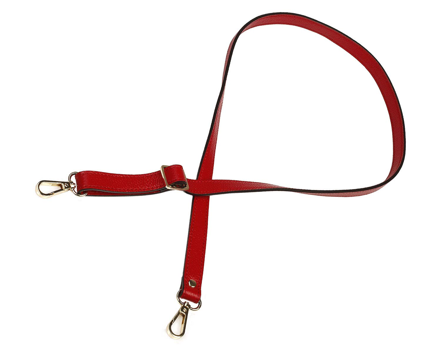 26-51 inch Gold Hardware VanEnjoy Full Grain Leather Adjustable Replacement Strap Cross Body Bag Purse 1.8 cm Width Brownish red