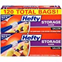 120-Count Hefty Slider Gallon Storage Bags