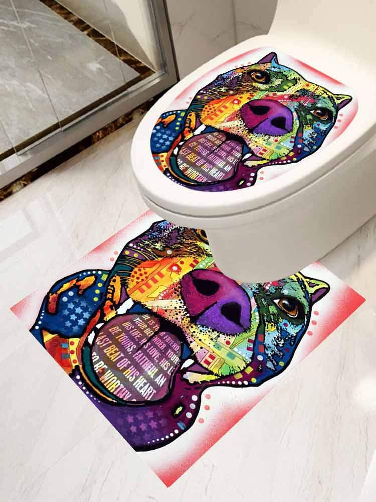 AuraiseHome Cover Decals Stickers Toilet Paste Set 2 Pitbull Decal Sticker