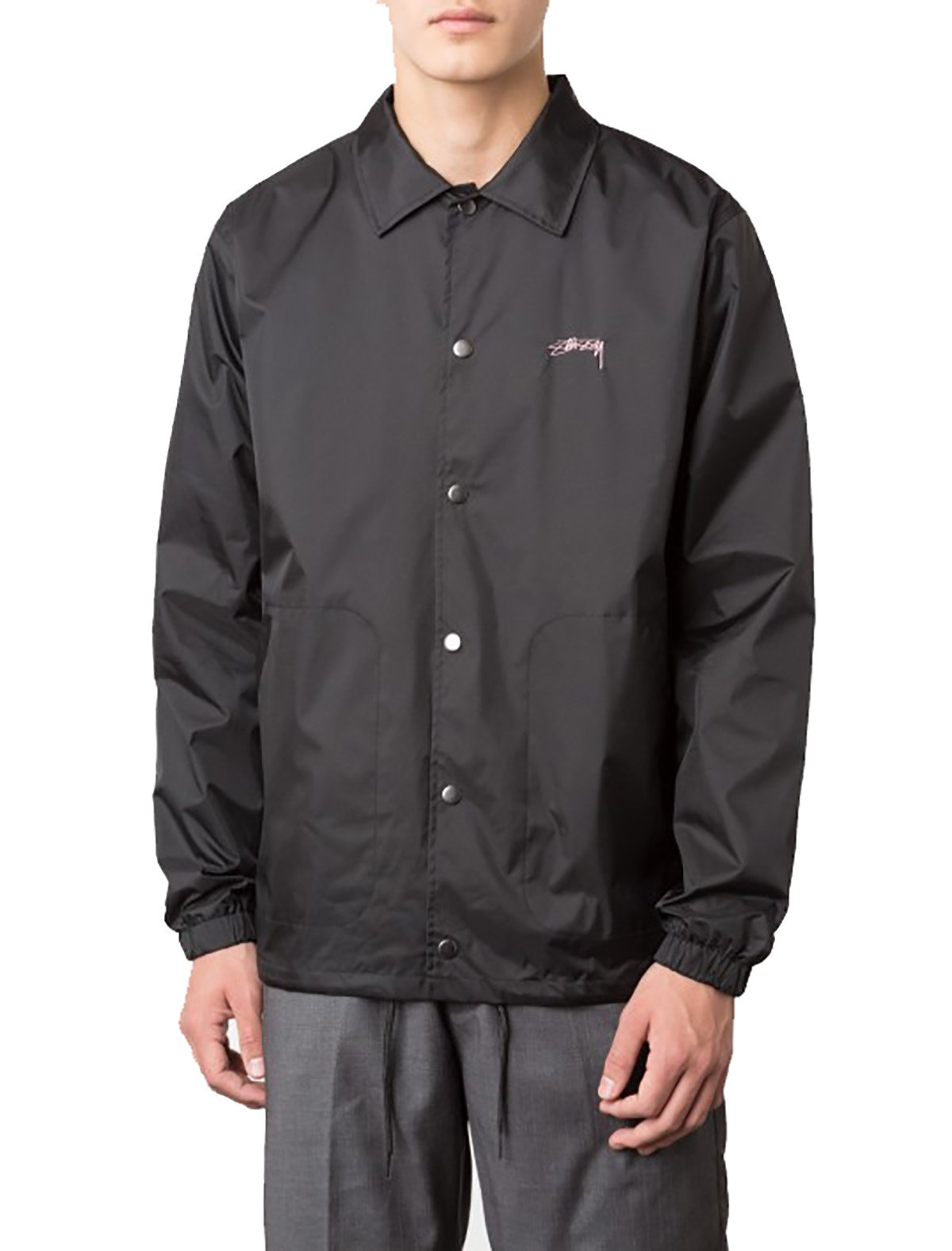 STUSSY SUMMER COACH JACKET (Large, Black)