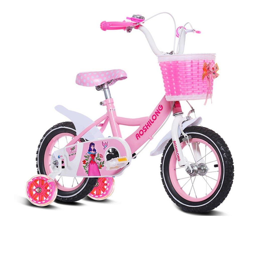 美しい 家チャイルドフォールド自転車3-6-8歳のベビーベビーカー12インチ14インチ16インチ18インチバイク (色 : ピンク ぴんく, サイズ さいず : 18Inch) B07CXMPKJ7 18Inch|ピンク ぴんく ピンク ぴんく 18Inch