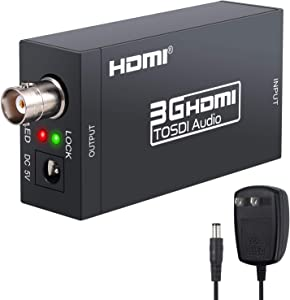 HDMI to SDI LiNKFOR HDMI to SDI Converter Adapter SDI/HD-SDI/3G-SDI Adapter HDMI to SDI Adapter Support 1080P for Camera Home Theater