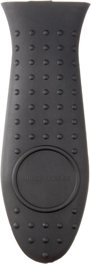 Amazon Basics Silicone Hot Skillet Handle Cover Holder, Black