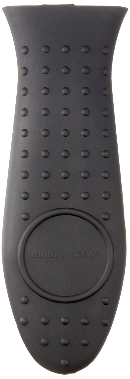AmazonBasics Silicone Hot Handle Cover/Holder - Black