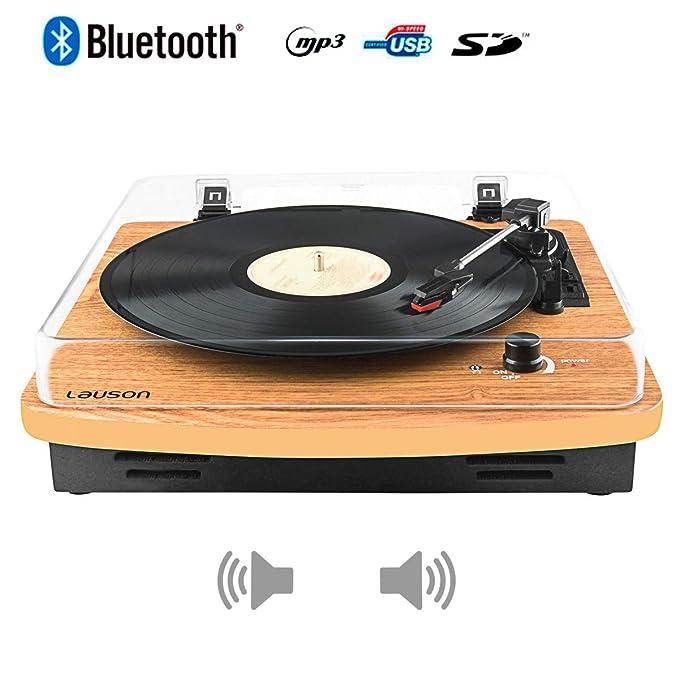 Lauson CL608 Tocadiscos Estéreo Bluetooth 3 velocidades (33/45/78 ...