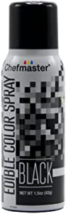 Chefmaster Edible Spray Cake Decorating Color 1.5oz Can - Black