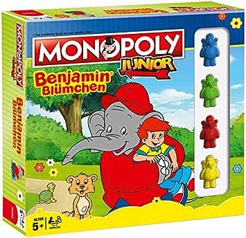 Winning Moves Monopoly Junior Benjamin Blümchen Niños Simulación económica - Juego de Tablero (Simulación económica, Niños, Niño/niña, 5 año(s), Alemán, Alemán): Amazon.es: Juguetes y juegos