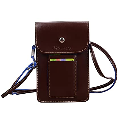 online retailer 9c62c a7f78 Multifunctional Mini PU Leather Cell Phone Case Pouch Wallet Bag Purse  Carrying-case with Shoulder Strap for iPhone SE/iPhone 7 / 6S / iPhone 7  Plus / ...