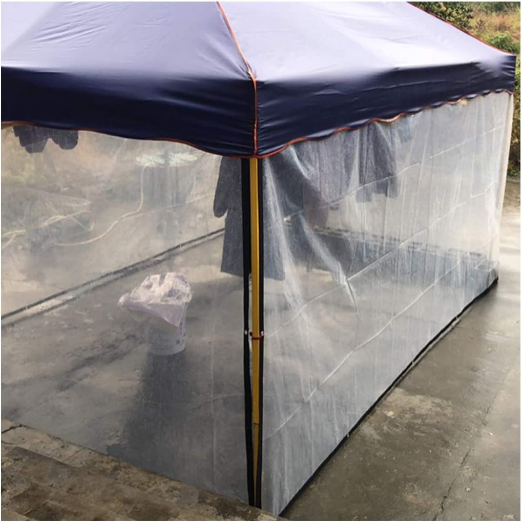 3m Glass Clear Tarpaulin Ground Sheet Cover Heavy Duty Balcony Plant Awning Rainproof Plastic Cloth for Garden Camping 120G//㎡,2