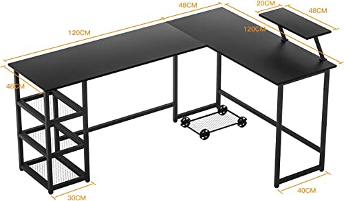 Maxzzz L Shaped Computer Desk/Corner Computer Desk