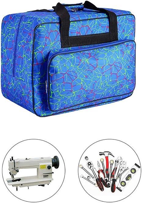 Bolsa de m/áquina de coser extra grande con bolsillos y asas bolsa de herramientas para m/áquina de coser y accesorios de costura extra