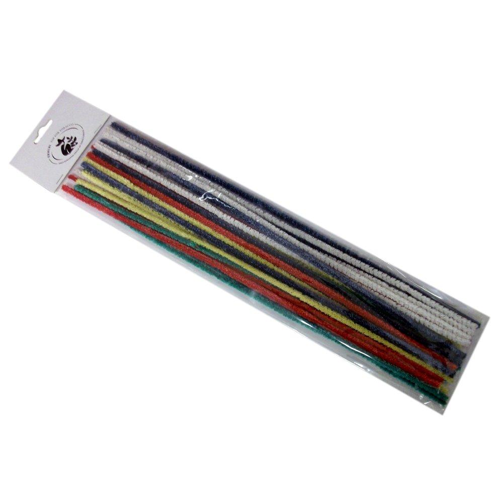 Pfeifenreiniger bunt extra lang - 125 Stück (5 x 25er Beutel) 30 cm für Lesepfeifen oder zum Basteln SCHÜTA