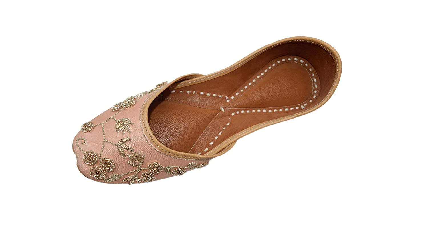 Flamingo The Krafts Indian Ethnic Embroidered Jutti Mojari Ballet Flats Traditional Pump shoes for Women