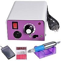 Yescom Electric Nail File Drill Kit Acrylic Manicure Pedicure Machine Foot Pedal 6 Bits
